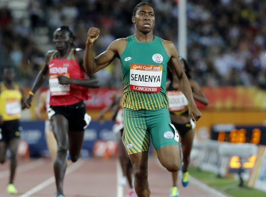 Caster Semenya competing in the 800m