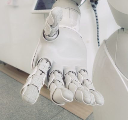 Robot hand. Photo by Franck V. on Unsplash