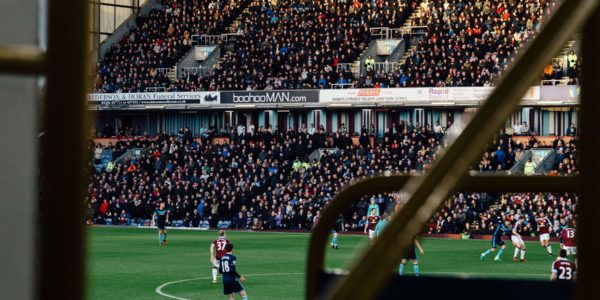 Football crowd at Burnley. Photo by Nathan Rogers on Unsplash