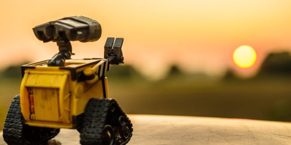 The future of automation? Wall-E looking to the distance. Photo by Dominik Scythe on Unsplash