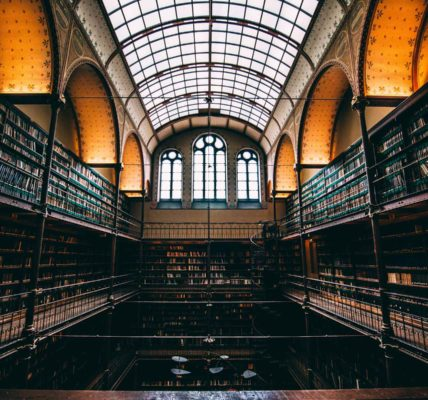 PhD thesis library. Photo by Will van Wingerden on Unsplash