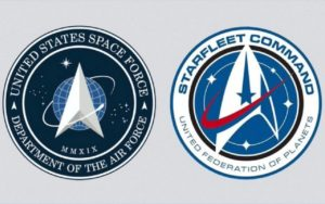 Space Force logo vs Star Trek Federation logo